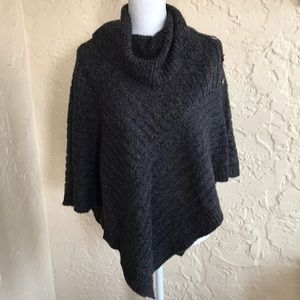 Karen Scott Cowl Neck Poncho Sweater